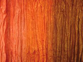 Seidentuch orange-braun