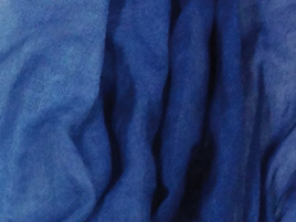 Wolle- Seidentuch blauverlauf