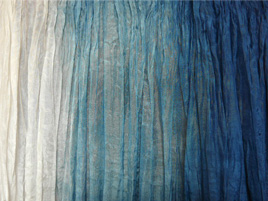 Seidentuch weiss-blau