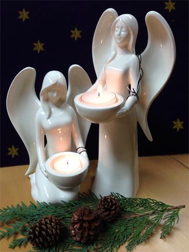 2 Engel mit Kerze